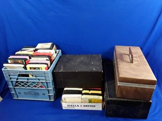 large lot of eight track tapes