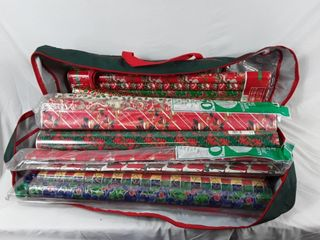 Bag of Christmas wrapping paper