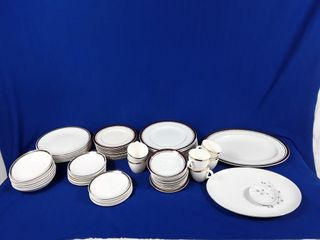 lot of assorted plates and mugs some  meakin