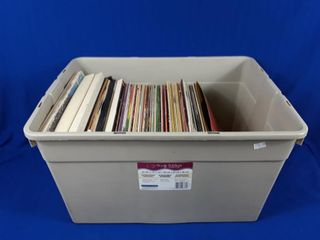 Bin of assorted records various artists