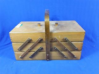 Old Expandable Sew Box