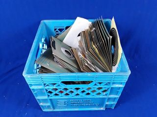 Crate Of Assorted 45s Of Records Of Various