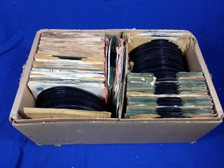 Box Of Assorted 45s Of Records Of Various