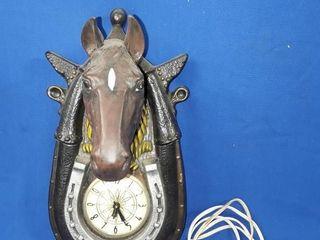 Decorative Horse Head Clock