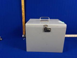 Metal filing case no keys