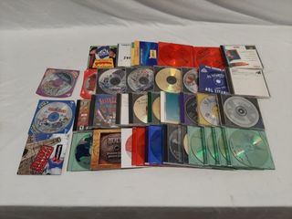 Cd Rom lot With Old Pc Games  Aol Disks  Mosc