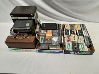 lot Of Miscellaneous Audio Tapes And 8 Tracks