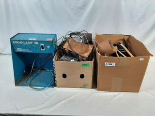Electrical lot with extension chords  radios