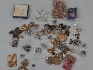 Pin lot with Canadian  Ontario  flower  etc  pins