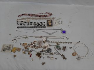 Necklaces  pins  earrings  etc