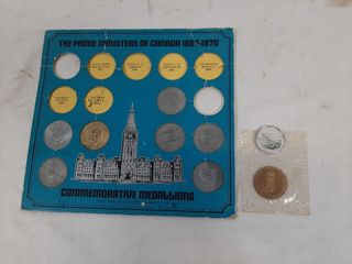 Prime ministers of Canada medallion incomplete
