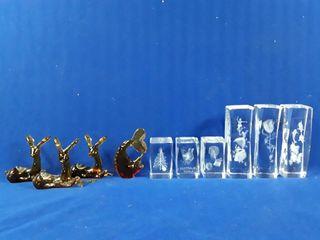 6 glass design etchings and 4 ambor kanawha