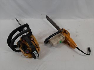 McCulloch gas chain saw and craftsman electric