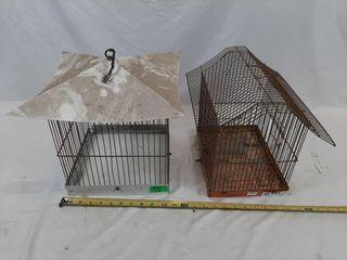 Pair of bird cages