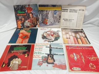 Christmas record lot  Poor to good condition