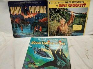 Walt Disney records fair to poor condition