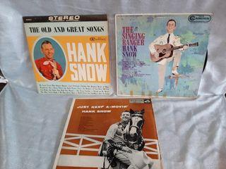 Hank Snow Record Albums  Good To Fair Condition