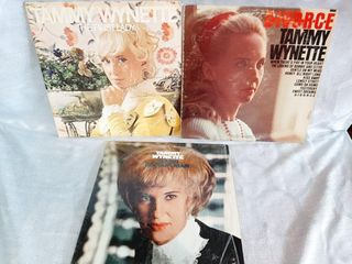 Tammy Wynette Record Albums Good fair Condition