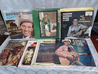 Ernest Tubb records  Good to fair condition