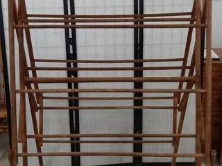 Wooden folding drying rack  67  tall