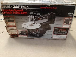 Craftsman variable speed 16  scroll saw in box