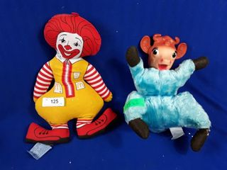 Ronald McDonald doll and cow doll