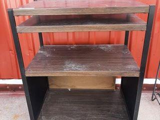 Thin metal shelving unit 23 1 2  x 15 1 4  x 30