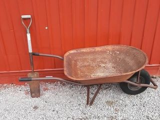 Wheel Barrow and spade