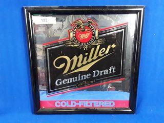Miller Genuine Draft bar sign