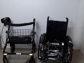 Evolution Walker and NRG wheelchair