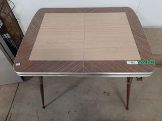 Vinyl and metal table
