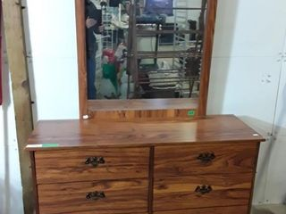 Wood Dresser With Mirror Measurements On Sticker
