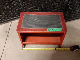 Small vintage metal stool