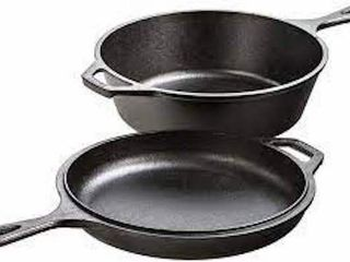 lODGE CAST IRON COMBO COOKER  3 2 QUART