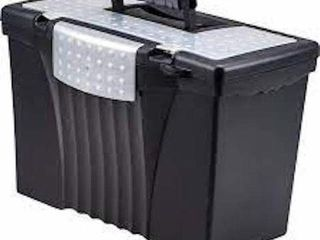 STOREX PORTABlE FIlE STORAGE BOX