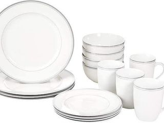 AMAZONBASICS 16 PCS CAFE DINNERWARE SET