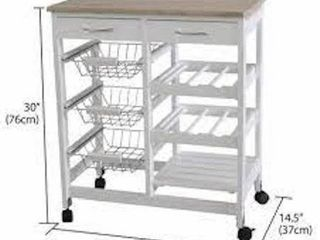HOMEBASICS ROllING KITCHEN TROllEY