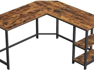 VASAGlE INDUSTRIAl l SHAPED TABlE RUSTIC BROWN