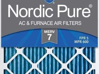 6 PACK NORDIC PURE AC AND FURNACE AIR FIlTERS