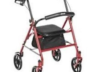 DRIVE MEDICAl RED FOUR WHEEl WAlKER