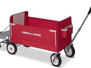 RADIO FlYER 3 IN 1 WAGON WITH COOlER CADDY