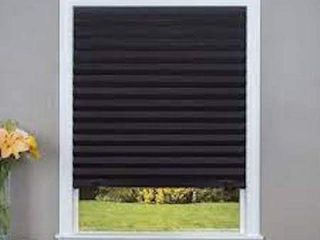 ORIGINAl BlACKOUT PlEATED PAPER SHADE BlACK 37  X