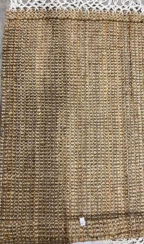 RATTAN AREA RUG APPROX 4 5 X 2 5 FT