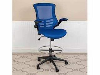 FlASH FURNITURE Bl X 5M D BlUE GG MID BACK BlUE