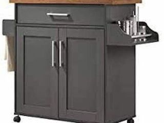 HODEDAH HIK78 T GREY OAK KITCHEN TROllEY