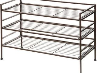 AMAZON BASICS 9 PAIR SHOE RACK ORGANIZER