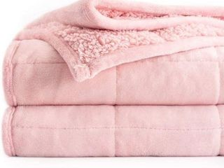 BUZIO SHERPA FlEECE WEIGHTED BlANKET FOR ADUlTS