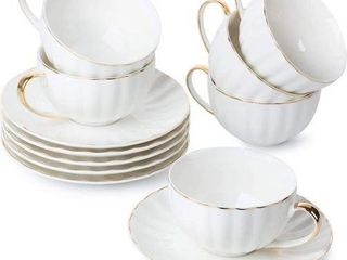 6PCS TEA CUP AND SAUCERS