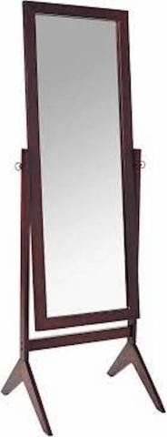 CROWN MARK WOODEN BED ROOM FlOOR MIRROR 18 8 X 18
