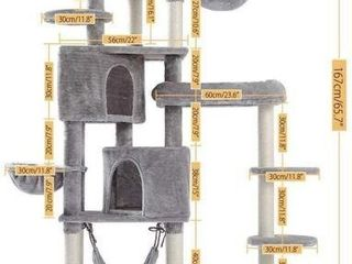 JIWKlKEJI CAT TREE HOUSE SIZE l